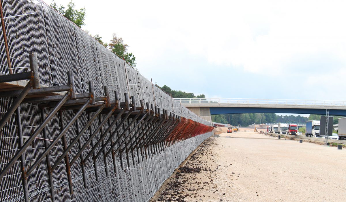Hangsicherung Metall Order Of Over 41 000 Cubic Metres Of Slope And Noise Protection For
