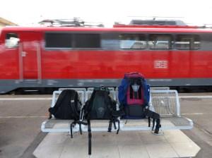 Rucksäcke mit Zug