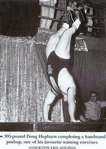 Doug Hepburn Performing Handstand Push-Up