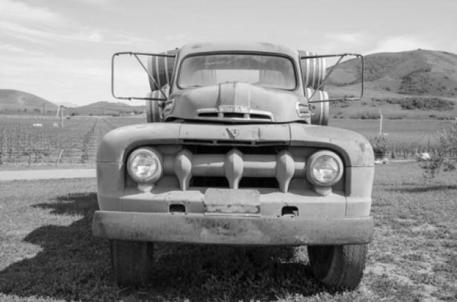 Sanford winery truck b&w.Ferlisi.42