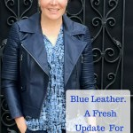 Blue Leather. A fresh update to your %0Ablue leather a fresh update for spring