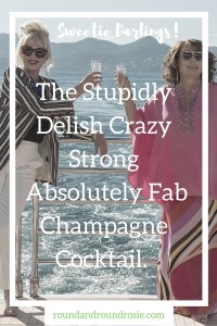 Absolutely Fabulous the movie review and champagne cocktail