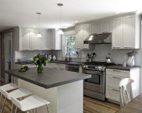 80 Cool Grey Kitchen Cabinet Ideas - Round Decor