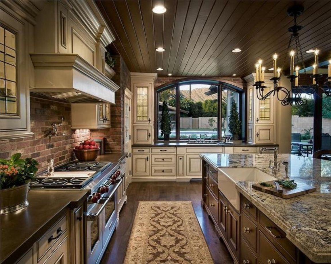 Amazing Kitchens Designs 80 Amazing Cream And Dark Wood Kitchens Ideas Round Decor