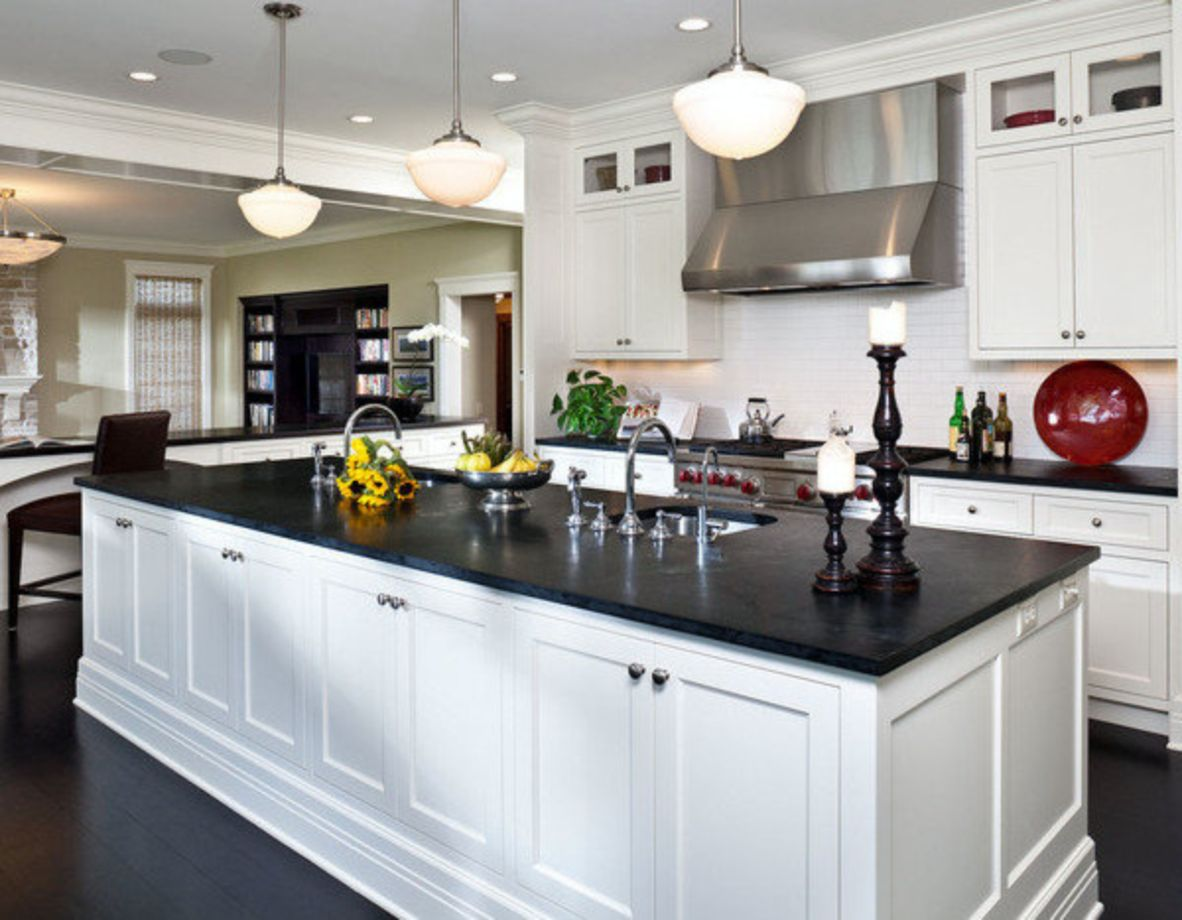 Kitchen Decorations For Countertops 55 Inspiring Black Quartz Kitchen Countertops Ideas