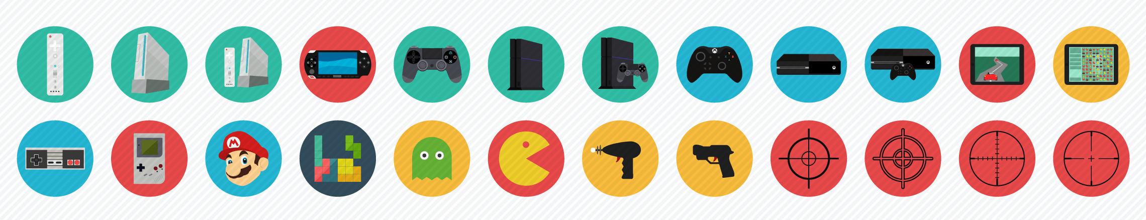 Gaming flat icons