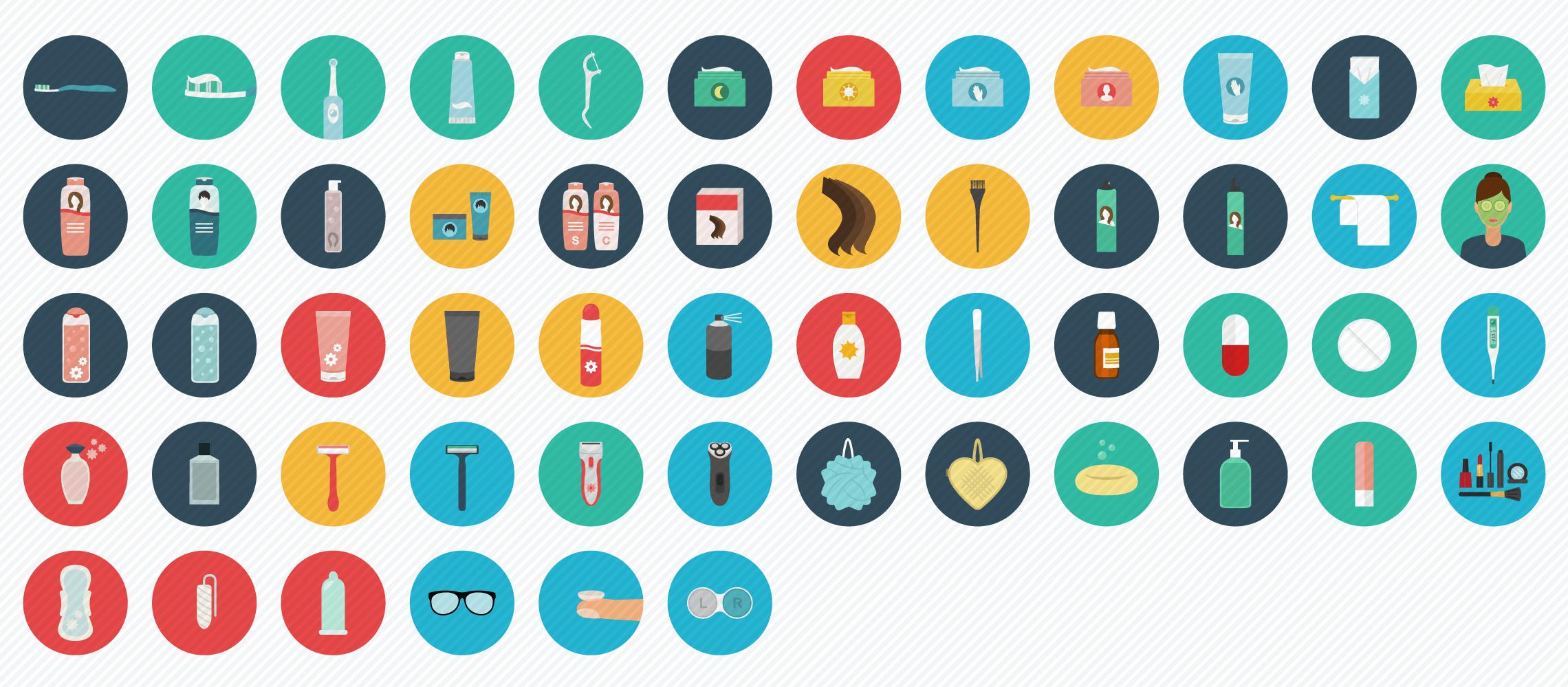 drug store flat icons
