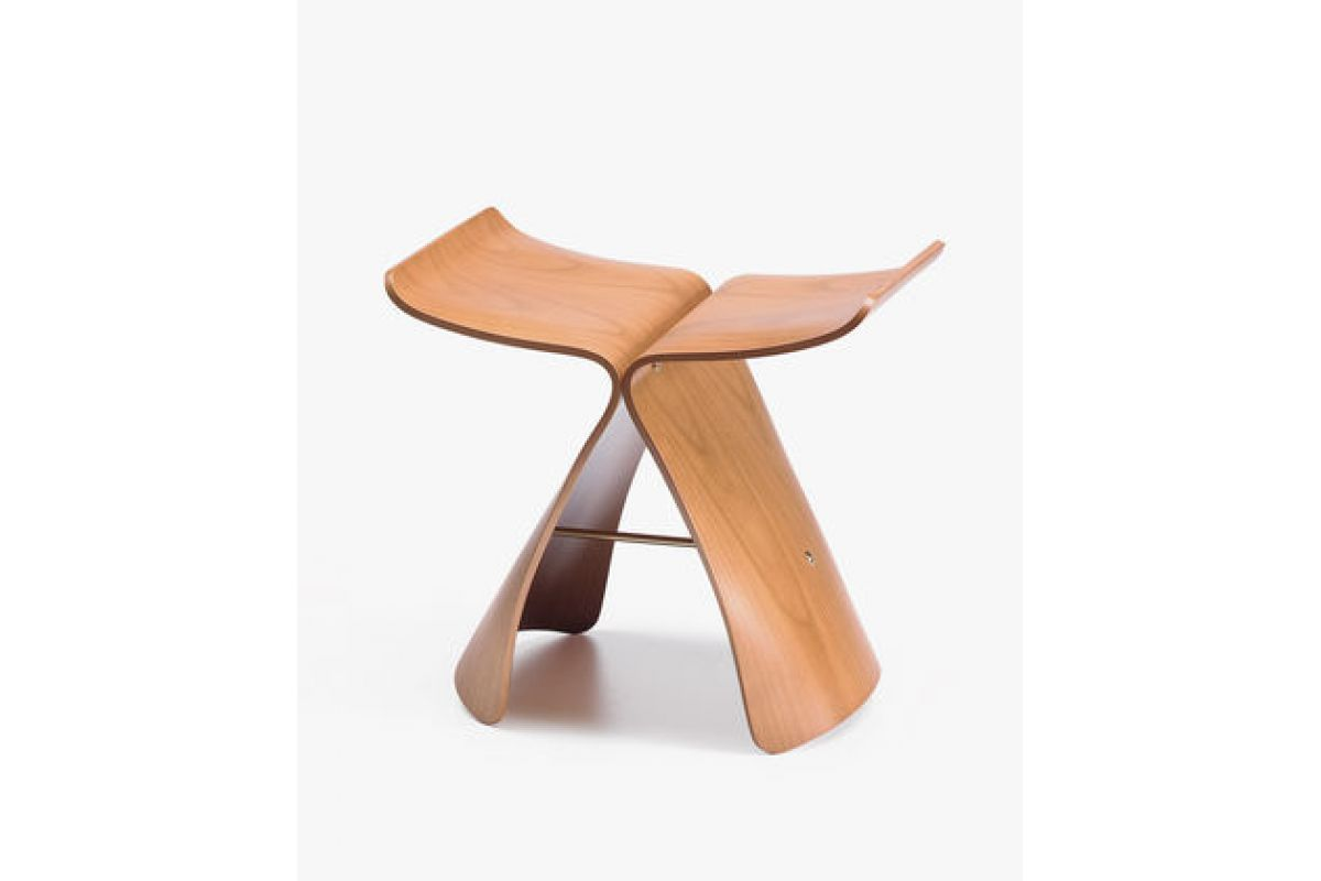 Tabourets Vitra Vitra Butterfly Stool Round Office Mobilier De Bureau