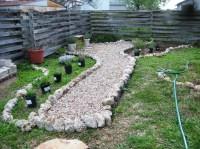 installing gravel path   A Round Rock Garden