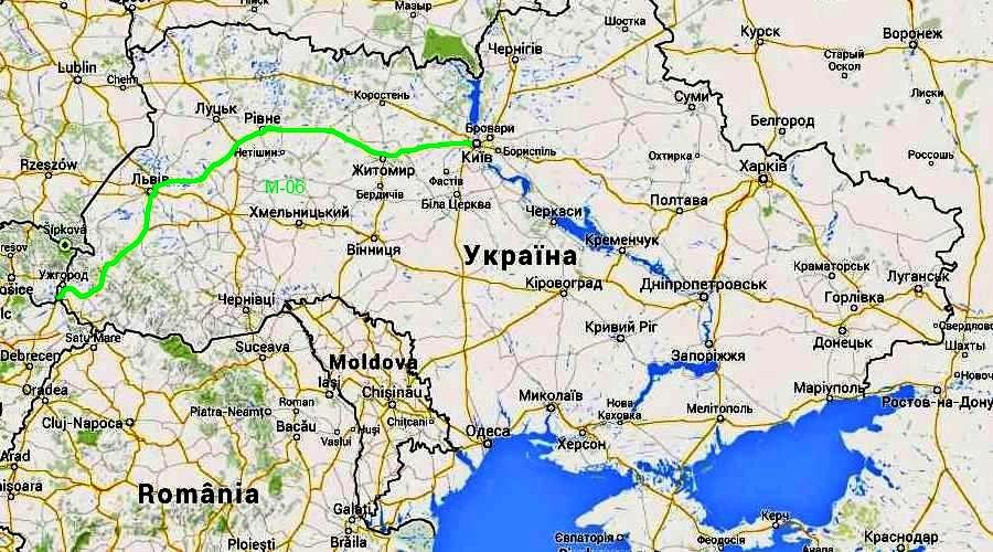 Дорога М 06 Киев Чоп в