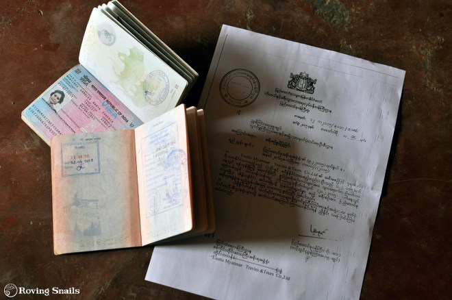 Myanmar to India Documents