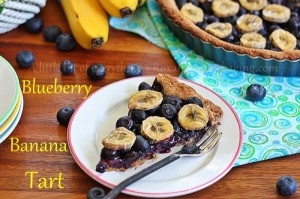 Blueberry Banana Tart