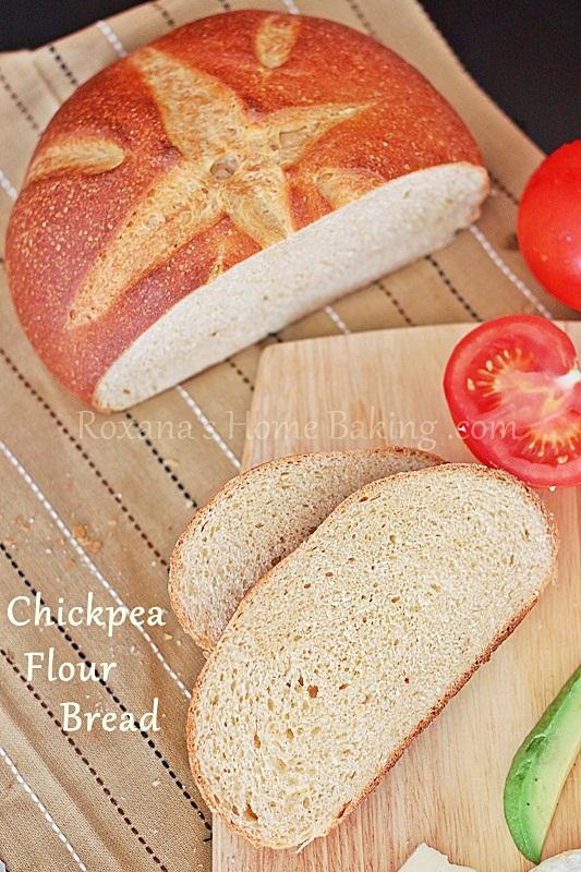 chickpea flour bread | Roxanashomebaking.com