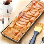 Apple dulce de leche tart