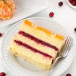 Citrus cranberry cake