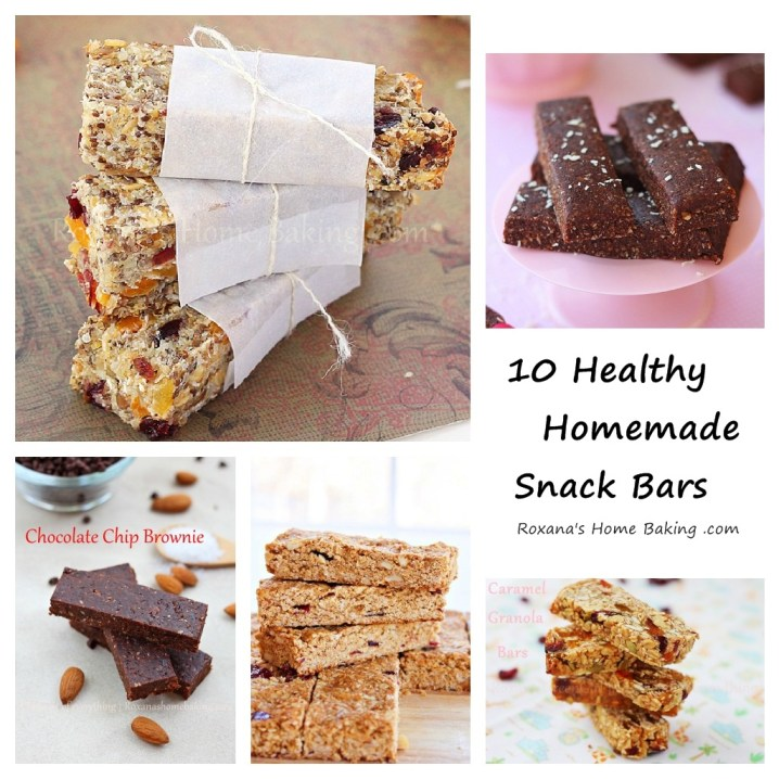 10 Healthy Homemade Snack Bars from Roxanashomebaking.