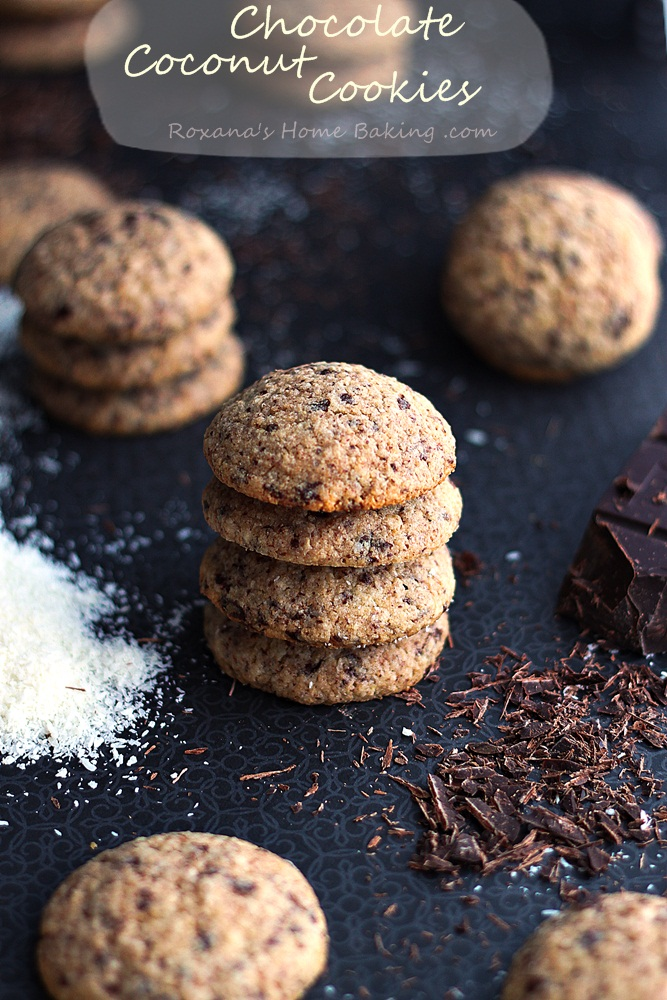 chocolate coconut cookies recipe roxanashomebaking 1