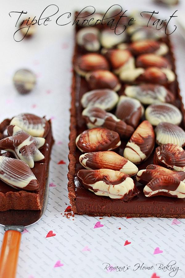 triple chocolate tart 5