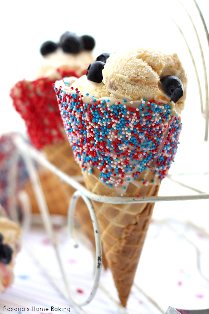 4th of July ice cream cone 1