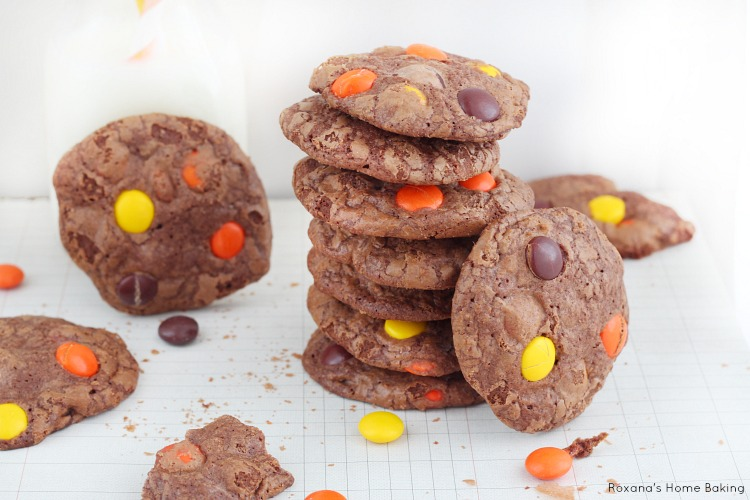 Reese's pieces double chocolate cookies recipe