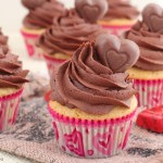 Peanut butter cupcakes with chocolate frosting