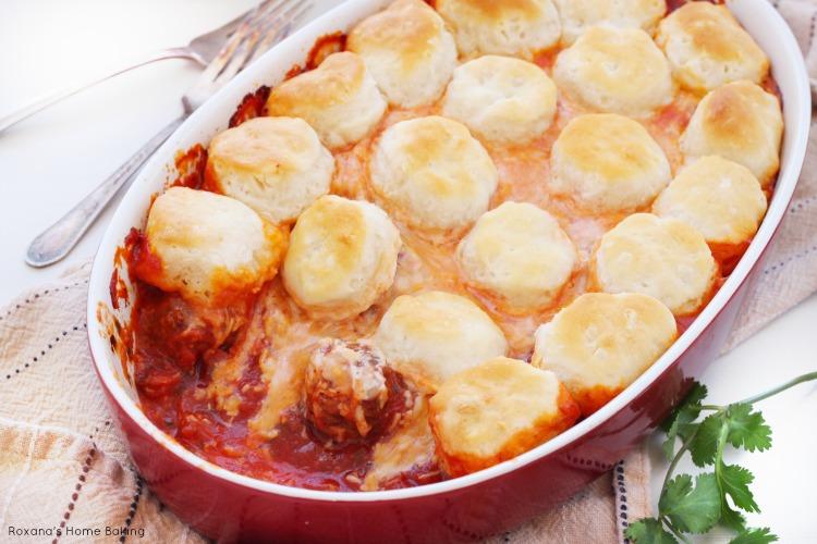Upside-down meatball casserole recipe