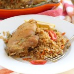 Brown rice and chicken skillet