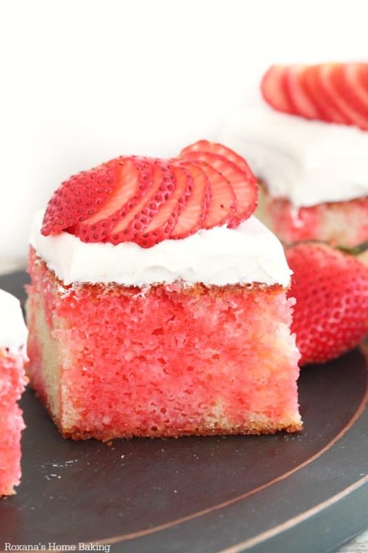 strawberry poke cake recipe 1