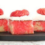 Strawberry poke cake (made from scratch) and a $300 gift card giveaway