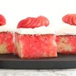 Strawberry poke cake (made from scratch)