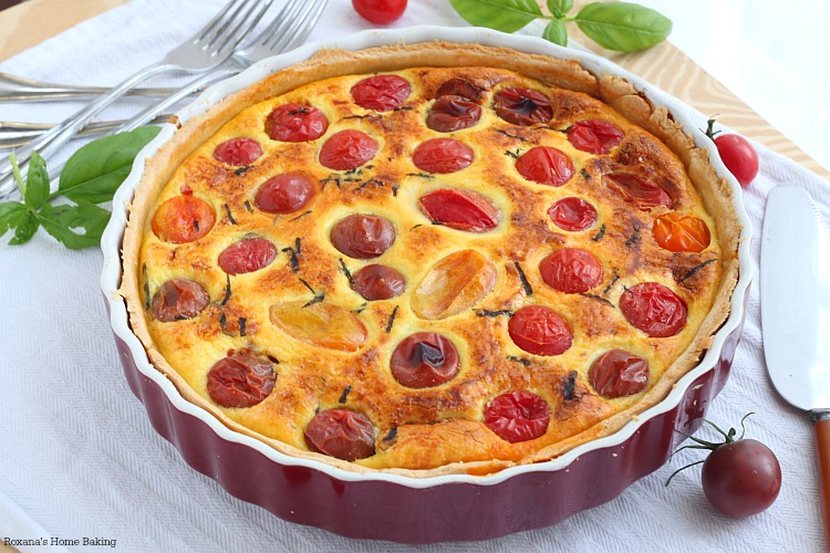 Cherry tomato quiche recipe