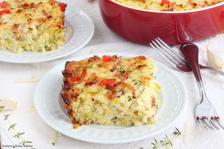 Zucchini, bacon and rice casserole recipe