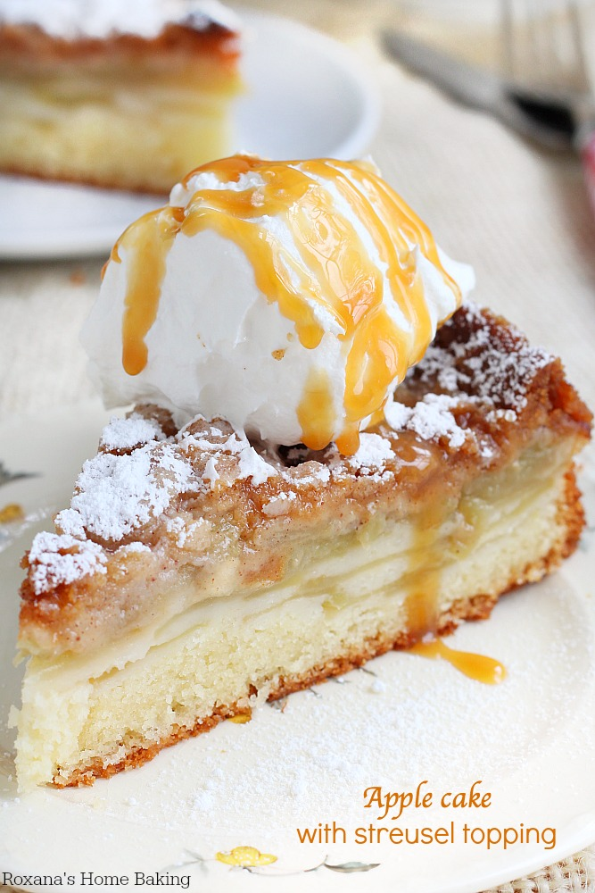 Apple cake with streusel topping {Roxana's Home Baking}