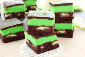 Mint Chocolate Candy Brownies recipe