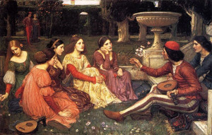 J.W. Waterhouse, A Tale from the Decameron (1916)