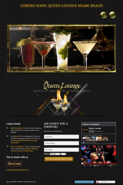 Queen Lounge Coming Soon Page