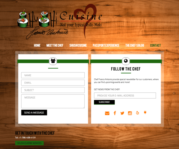 CHEF FRANCO ANTONIO WEBSITE - ROXX STUDIO DESIGN