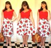 Roxy Vintage Style 50s Hell Bunny floral skirt
