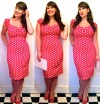 Roxy Vintage Style red polka dot Collectif dress Dolores