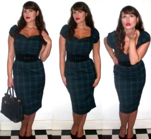 Collectif Rizzo blackwatch check dress