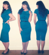 teal Bettie Page dress Roxy Vintage Style