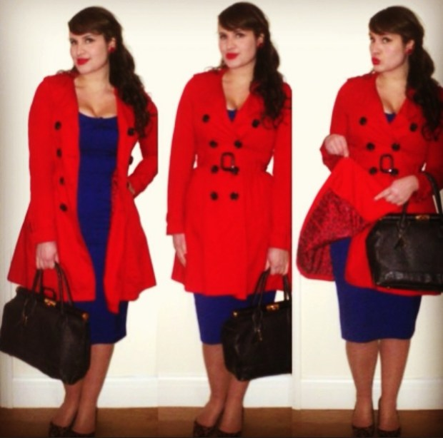 Roxy Vintage Style red trench coat essentials