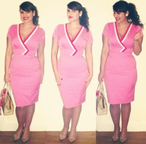 Roxy Vintage Style Heart My Closet pink pencil dress