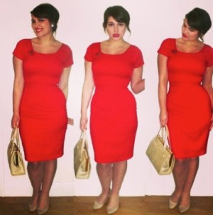 Roxy Vintage Style red Joan pencil dress