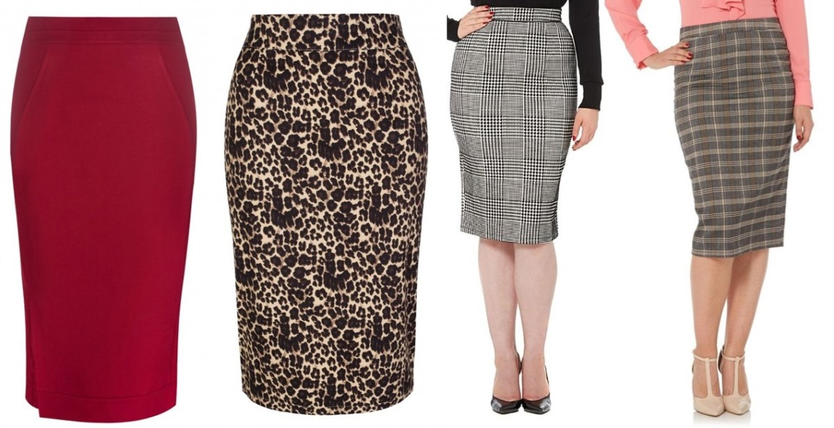 pinup style pencil skirts 1950s vintage style