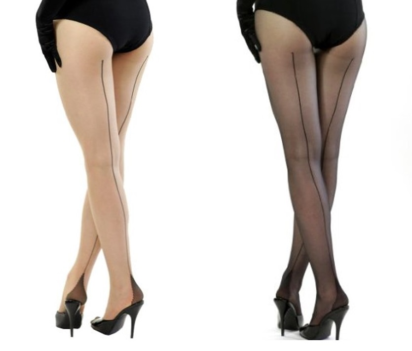 winter pinup fashion seamed tights stockings