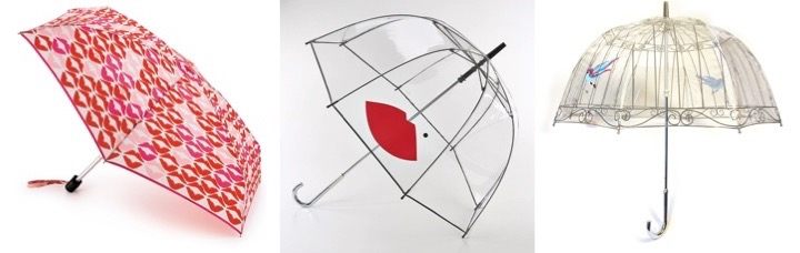 winter pinup fashion umbrellas