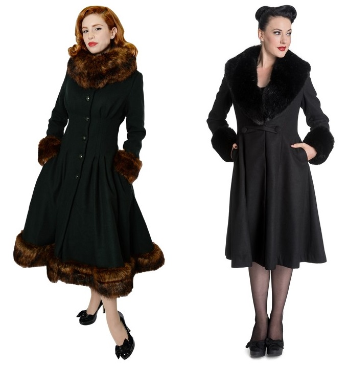 winter pinup fashion coats