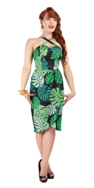 Collectif Hawaiian vintage dress rainforest
