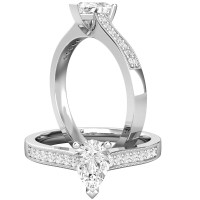 Single Stone Engagement Ring With Shoulders for Women in ...